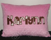 Brown Cow Print Pillow - Personalized Cow Hide Pillow - Applique Cowhide Throw Pillow - Personalized Minky Pillow - Cowgirl, Western Pillow