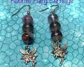 ON SALE Fluorite Earrings,Fairy Earrings, Gemstone Earrings