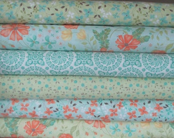 Green Refresh Half Yard Fabric Bundle - Sandy Gervais - Moda