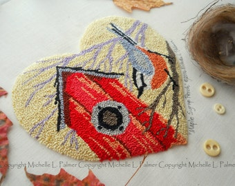 Maple Syrup Perch Punch Needle Embroidery DIGITAL Jpeg and PDF PATTERN Michelle Palmer Painting with Threads