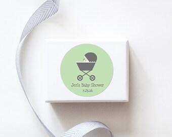 Stroller Baby Shower Stickers