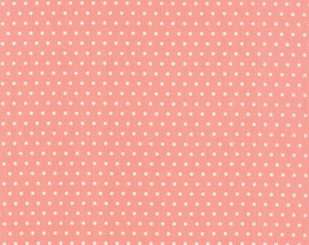 FALL SALE - 2 yards - Vintage Picnic -  Dot in Coral Pink (55128-13) - Bonnie and Camille for Moda Fabrics