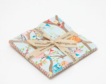 SUMMER SALE - Tree Party - 5 inch stacker (42 squares) - Kelly Panacci - Riley Blake Designs