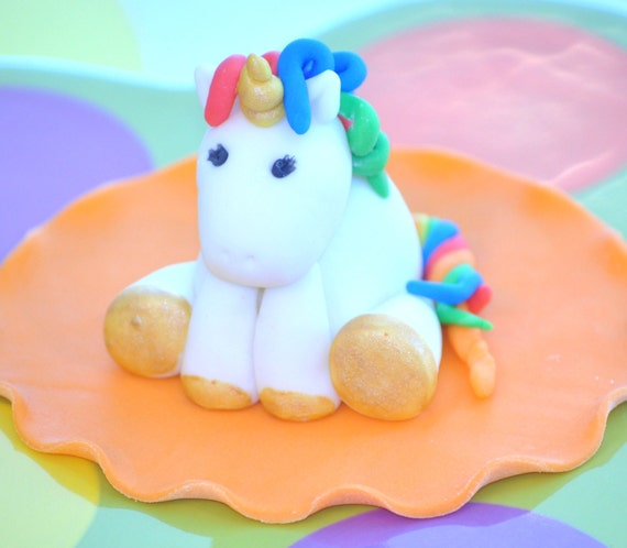 Unicorn CAKE TOPPER Rainbow Unicorn Unicorn Birthday Custom