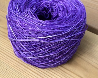 Hand dyed cotton yarn, Thunder cloud, 12/3, 50 grams skeins