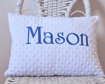 Minky Baby Pillow Baby Gift Shower Gift INSERT INCLUDED Personalized Pillow Personalized Gift