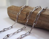 Chain Sterling Silver Handforged 21 Inches Guy Chain Dad Chain OOAK Gifts for Him