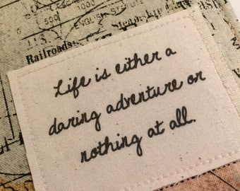 "Passport Cover,Passport Holder, Passport Case, life is either a daring adventure or nothing at all"", family passport case"