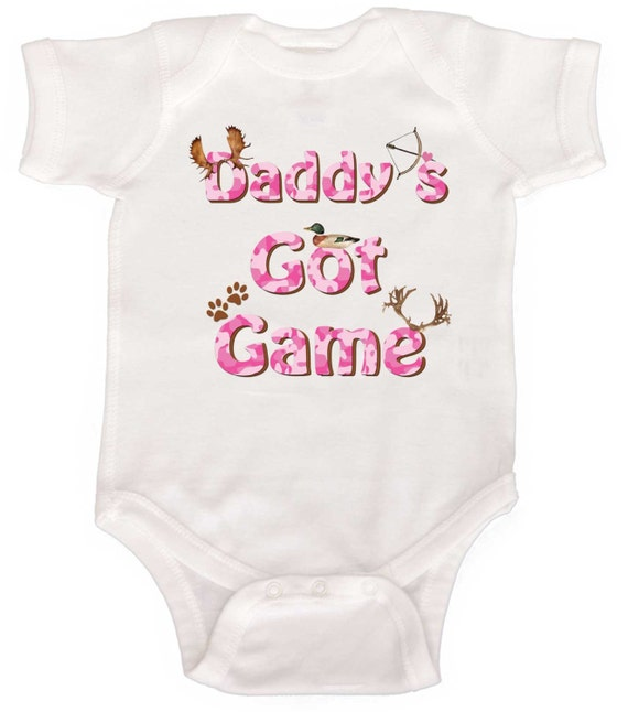Funny Baby Girl Romper Baby Bodysuits Hunting Rompers by Mumsy Goose