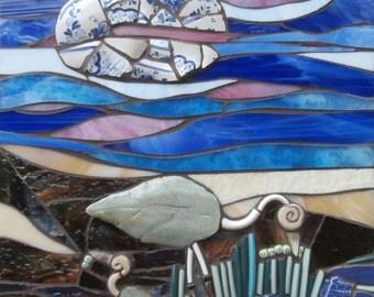 Early Birds II - Original Mosaic Wall Hanging