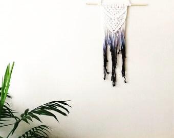 Dip dye wall hanging