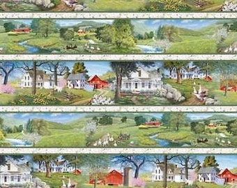 Summerwind Farm Border Fabric by South Sea Imports (by the yard)