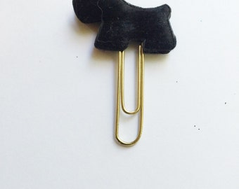 Cairn terrier puppy bookmark in black.  Great for goody bags and super cute in your planner.