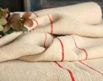 C 829 antique hemp linen roll 6.011 BRIGHT RED curtain fabric wedding decor linbedding 21.65wide