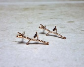 Branch Stud Earrings, Dainty Earrings