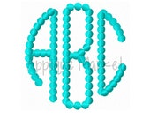 Machine Embroidery Design Embroidery Natural Circle Monogram Beaded Font INSTANT DOWNLOAD