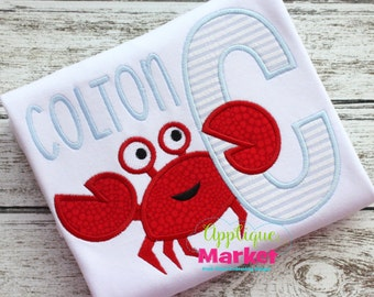 Machine Embroidery Crab Applique Alphabet Font INSTANT DOWNLOAD