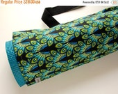 Yoga Mat Bag, Pilates Mat Bag, Peacock, Yoga Mat Carrier, Green, Birds, Gift for Her