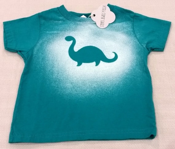 Green bleach dyed t shirt dinosaur by stephsjewels4ella on for Bleach and tone shirt