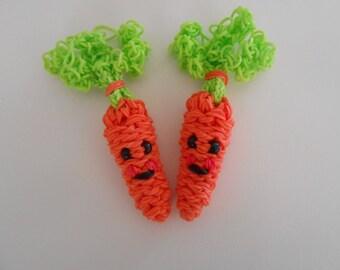 Rainbow loom Happy Carrots Set of Two
