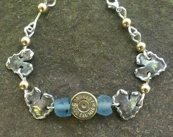 Silver Dime with Bullet Bracelet