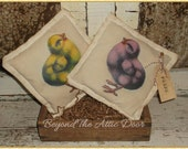Primitive CHICK Tucks EASTER Bowl Fillers SPRING Pillows Ornies