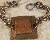 Dream Riveted Metal Bracelet