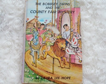 Vintage Book- Bobbsey Twins And The County Fair Mystery-1960-Laura Lee Hope