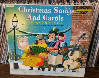 Christmas Songs and Carols Mitch Miller Vintage Vinyl Record