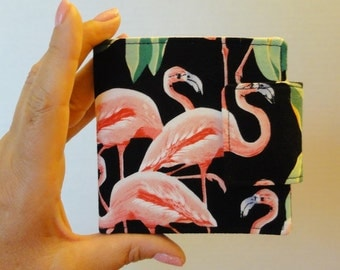 Black and Pink Flamingo Wallet