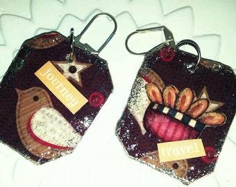peper mache handmade earrings