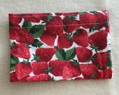Eco-Friendly Reusable Snack Bag - Strawberries
