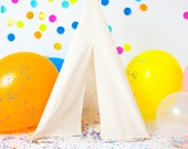 Play Teepee Tent | Reg/small Plain cotton indoor play teepee tent