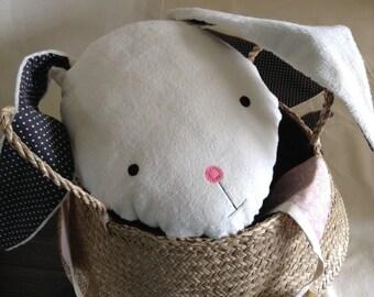 Cushion Bunny Rabbit, kids rabbit pillow, bunny pillow, rabbit plushie, Kids room cushion, cute pillow, cute cushion
