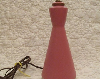 Vintage Pink Lamp with gold trim SALE