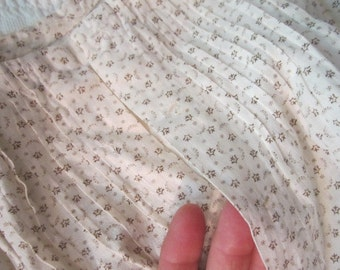 Antique 19c Victorian Cotton Neat Print Baby Gown Dress