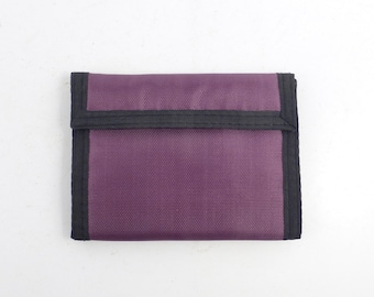 Velcro Wallet Vintage 1980s Purple and Black