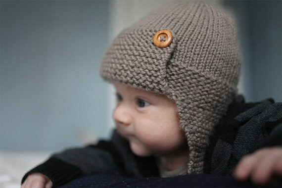 Snap Aviator Hat Knitting Pattern Baby To Child Sizes By Lovefibres