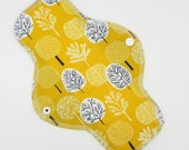 "10"" Heavy Cloth Pad, Reusable Cloth Menstrual Pad Made With Trees Organic Cotton Woven, WINDPRO fleece by MotherMoonPads"
