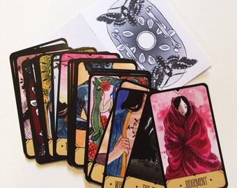 Tarot Deck - the Major Arcana - Original art tarot cards with guide