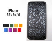 Made-To-Order iPhone SE / 5s / 5 (3-4 weeks) Designer Gear & Cogs Steampunk Puzzle Case (3D printed) - 8 color options