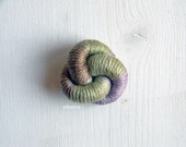 Knot lapel pin. Cotton. Mens knot boutonniere. Men accessories. Sage green, brown, lilac.