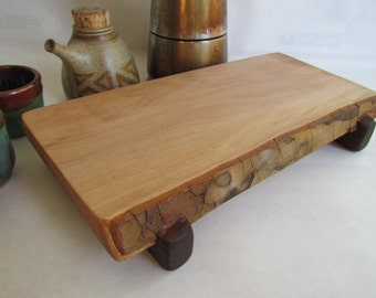 ECO RECLAIMED Live Egde SYCAMORE serving/cutting board