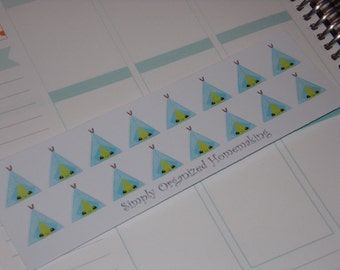 Tent Camping Stickers / Planner Stickers / Scrapbooking / Filofax