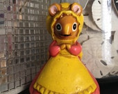 Vintage Josef Originals Lorrie Huff Designs HOUSE MOUSE Measuring Tape