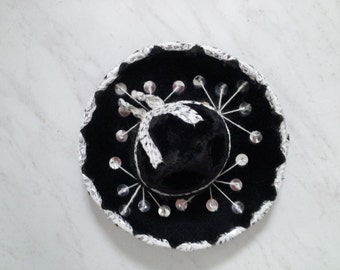 Vintage BLACK Mini Sombrero For Pet