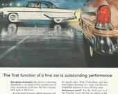 Vintage 1950s 1955 original magazine ad advertisement - Ford Lincoln  ----Expires May 21, 2016 and will not be renewed----