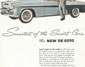 Vintage 1950s 1955 original magazine ad advertisement - DeSoto ----Expires May 23, 2016 and will not be renewed----