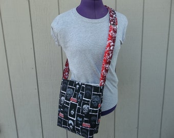 Walking Dead Crossbody Bag Black and Red