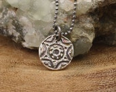 Silver Star Of David Pendant - Artisan Made from Antique Button